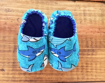 Baby Shark Slippers/Crib Shoes, Baby Boy Booties, Indoor Baby Shoes, Shower Gift