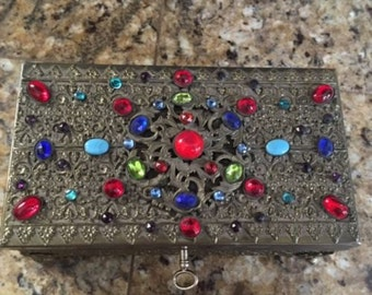 Czech Jeweled Casket Box