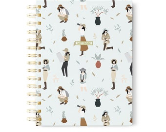 Spiral Journal, Traveler Journal, Fine Stationery, Gift for Friend, Adventure Notebook, Modern Notebook, Women Stationery Gift