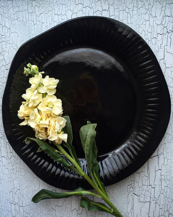 Bone Platter in Black
