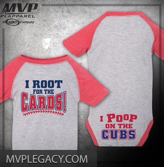 Stl Cardinals Poop On The Cubs Christmas Gift Baby Item Baby