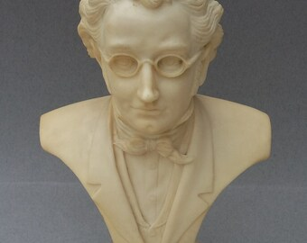 Large Vintage Composition Bust of Composer F.Schubert