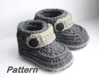 Crochet Baby Booties, Baby Booties Crochet Pattern, Easy pattern how to crochet baby booties, for boy or girl,  PDF Crochet Pattern N.106