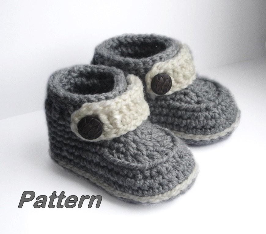 Atractivo Crochet Patrón De Botines Para Adultos Ilustración - Manta ...