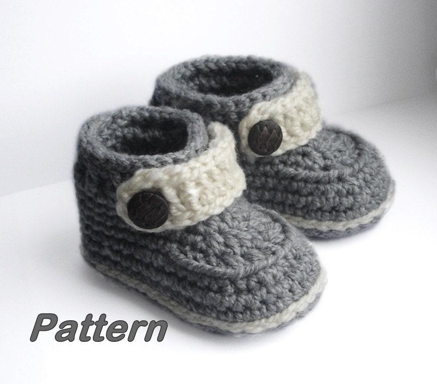 Crochet Baby Booties, Baby Booties Crochet Pattern, Easy pattern how ...
