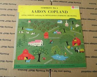 1960s classical Aaron Copland Antal Dorati Minneapolis symphony orchestra J33-1/3 rpm vinyl on mercury records # MG 50018