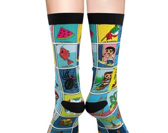 Loteria Cards Sublimation Socks