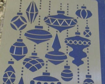 Ornament Mix Metal Stencil by Stampendous