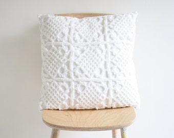 Big white crochet pillowcase