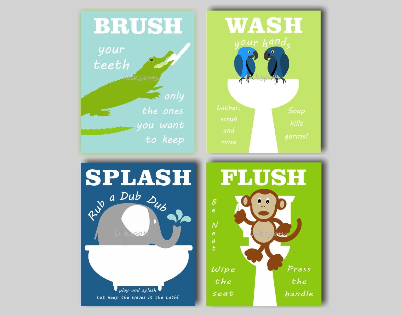Bathroom Signs Bathroom Rules Bathroom Animal Art Elephant