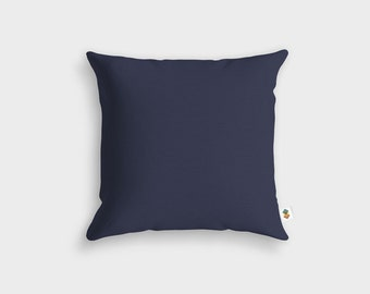 Basic storm blue cushion - Made in France - 45 x 45 cm