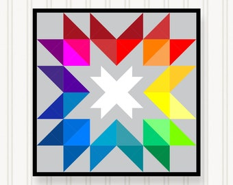 BQ013 - Barn Quilt - 6 Sizes - Head-Turning Curb Appeal - Premium Quality Lasts For Years & Years