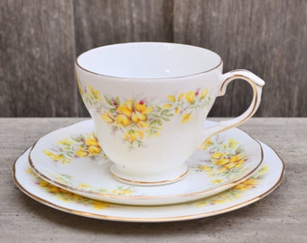Duchess 'Laburnum' Three Piece Teacup Set