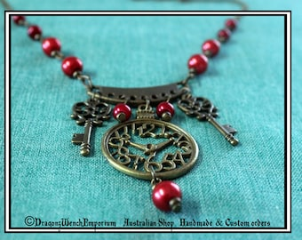 Handmade Steampunk choker. Steampunk necklace. Victorian style necklace. Victorian style Choker. Made in Australia