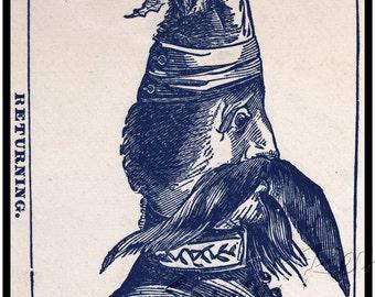 Civil War print - Metamorphic Jefferson Davis becomes a jackass