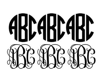 Monogram Decal Set of 6