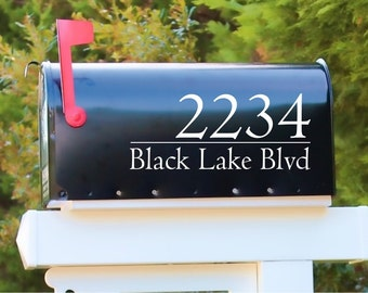 Modern House Numbers Mailbox Decals Address Sign Front Door Decor New Home Gift Mail Vinyl decal
