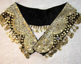 10% OFF Belly dance belt,Belly dance,Belly dancing,Belly dancing belt,Gold coin belt,Gold mirror belt,Gold black belt, Gypsy belt, Hip scarf