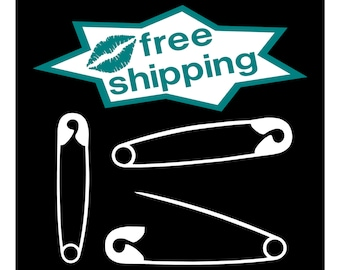 3 SAFETY PIN DECALS Anti-Trump Decal Ally Solidarity Safe Place Love & Peace
