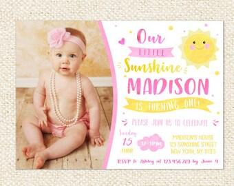 Sunshine Invitation - You are My Sunshine Birthday Invitations - Sunshine Birthday Invitation - Little Sunshine