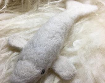 Beluga whale,cetacean,sea creature,whale,whales,needle felted,felting,fiber arts,fiber art,collectible,wool beluga