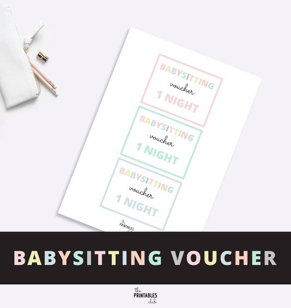 baby sitting voucher
