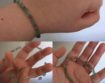 Purples and Greens of the Sea Bracelet