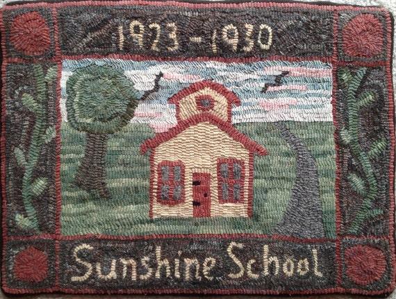"Rug Hooking Pattern, Sunshine School, 18"" x 24"", P117"