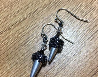 Awesome Spike Beaded Earrings