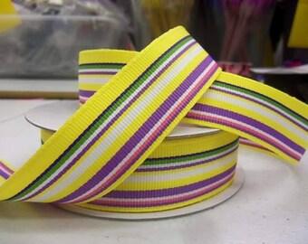 7/8 inch x 10 yds Grosgrain Summer Stripes