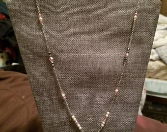 Pink Hope Swarovski crystal and stainless steel necklace