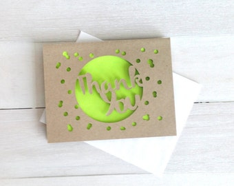 Thank You Bubbles Greeting Card