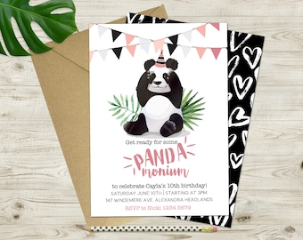 Printable Panda Invitation