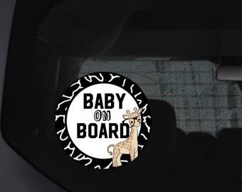 Baby on board car sign, baby on board, baby on board car, baby on board sign, suction cup sign, car accessories, baby shower gift