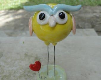 Ceramic Owl-100% Handmade-Home Decor- Unique gift
