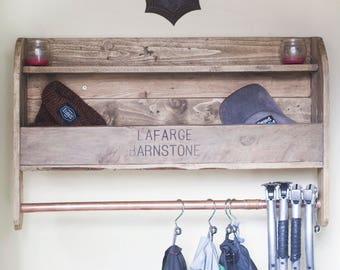 Reclaimed Pallet wood Coat / Towel Rack