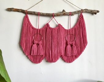 Rose wall hanging with tassels