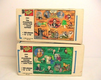 Jigsaw Puzzles, Vintage Presidential Jig Saw Puzzles, 1987, 1989