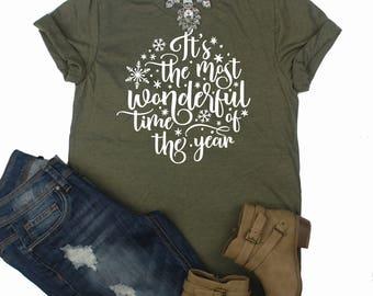 Most wonderful Time Of The Year Shirt // Christmas Shirt // Holiday Shirt
