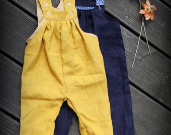 dungarees, linen trousers, wax trousers,