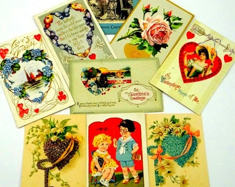 Antique Valentine Postcards from the Early 1900s
