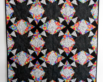 Synesthesia, lap quilt, baby quilt