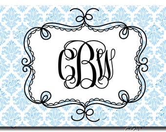 Monogram Placemat Blue