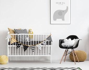 Elephant baby print - Dream big little one