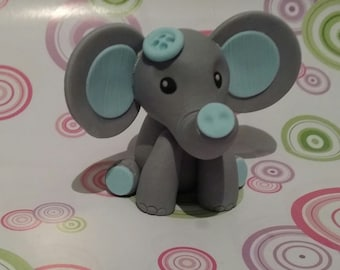 Edible cake topper, cute elephant