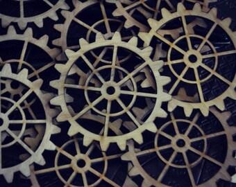Laser Cut Wood Gears