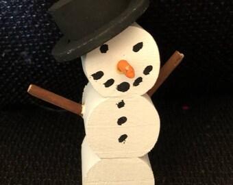 Wooden Decorative snowman