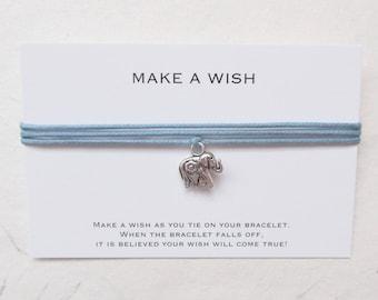Wish bracelet, make a wish bracelet, elephant bracelet
