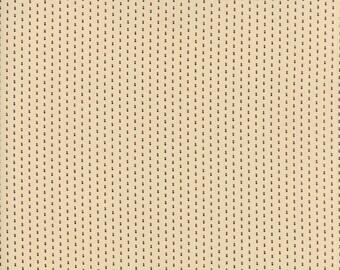Moda - Needle & Thread Gatherings - Double Dot Tan - Pie Crust  - Fabric by the Yard 1236-12