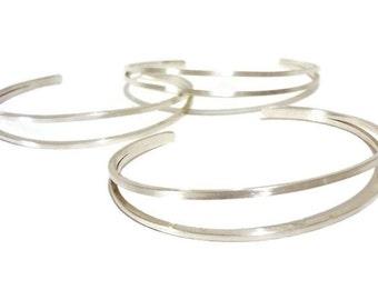 sterling silver cuff - sterling silver bracelet - sterling silver cuff bracelet - minimalist cuff - silver cuff - silver bangle